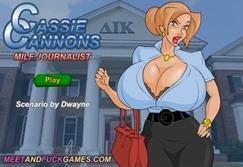 Cassie Cannons: MILF Journalist - Play online