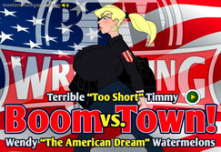 Boom Town! Watermelons Wendy vs. Timmy - Play online